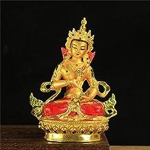 PPCP 6 Inch Buddhist Efficacious Alloy Metal Gilding Vajrasattva Buddha Statue Tibetan Home Putting Decoration Oranments