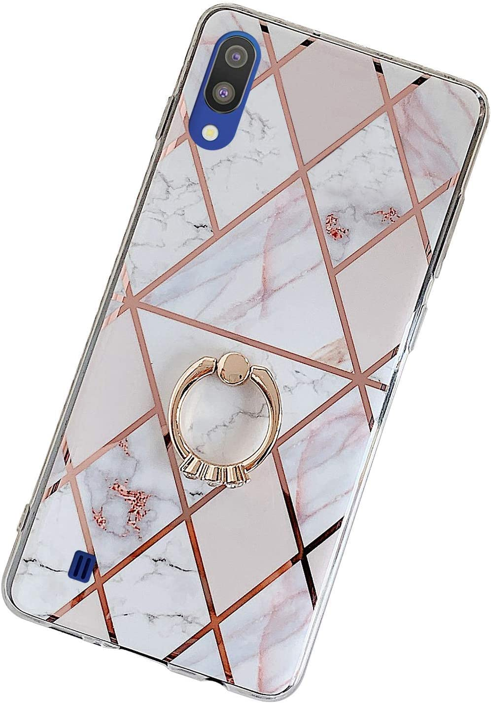 Herbests Kompatibel mit Samsung Galaxy A70 H/ülle Glitzer Diamant Silikon /Überzug Plating TPU Schutzh/ülle Weiche Slim Cover Crystal Clear Handytasche Kratzfest Durchsichtige Handyh/ülle,Gold