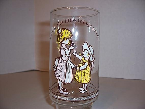 Set of 7 Vintage Holly Hobbie Happy Talk Glasses