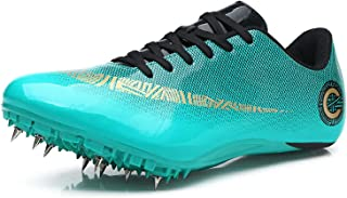 X/L Men & Women Track Shoes Professional Spikes Running Shoes Unisex Sprint Training Sneaker(Size:7.5,Color:NN-A)