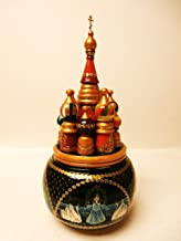Alkota Russian Authentic Wooden Hand Painted St. Basil Cathedral Music Box