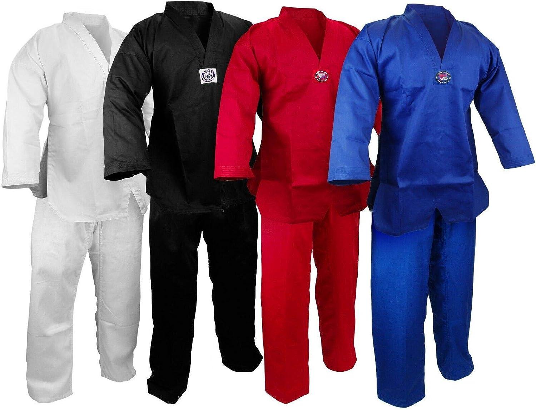 Martial Arts V-Neck Ranking TOP14 Chicago Mall Taekwondo 7.5 Uniform Set Lightweight oz Gi