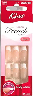 Kiss Salon French Long Length Nails 24 in Pack, 1 Pack