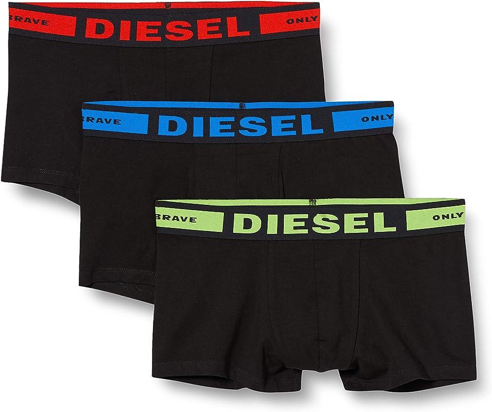 Diesel,mutandine boxer per  uomo,pacco da 3,95% di cotone; 5% elastan 00CKY30BAOF
