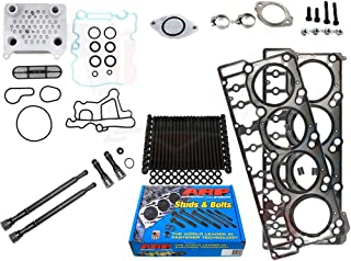 ARP Studs 18MM Head Gaskets Oil Cooler Stand Pipes - Fits Ford 6.0L 6.0 Powerstroke Kit - 2004.5-2006 18MM - DK Engine Parts (18mm)