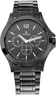 Titan All Black Analog Dial Men's Watch-1698NM01