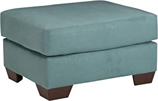 Ashley Furniture Signature Design - Darcy Ottoman - Ultra Soft Upholstery - Contemporary - Sky