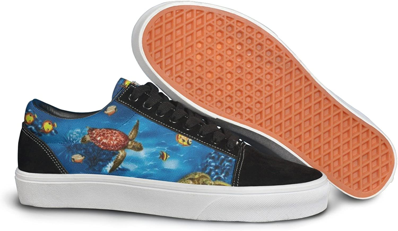 Island Sea Turtles Ocean Women Casual Sneakers Flat Athletic News Comfortable