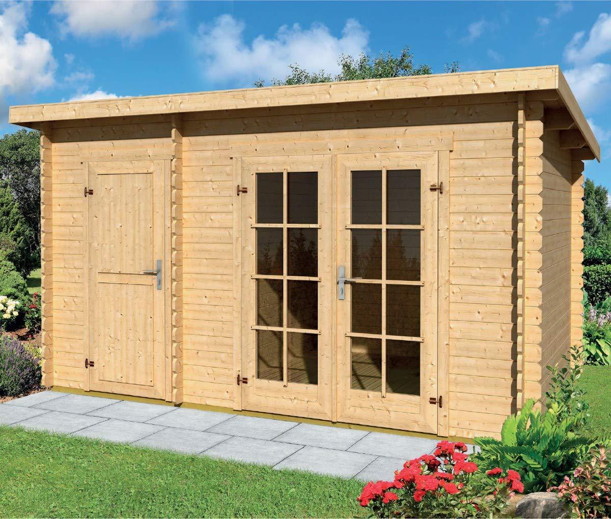 Casa jardín Belmont madera nórdica Gartenpro 443 x 298 x 222/200H: Amazon.es: Jardín