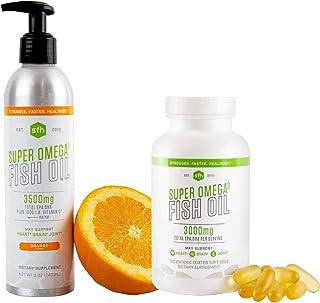Super Omega 3 Fish Oil Bundle: Capsules and Liquid Fish Oil (Orange)