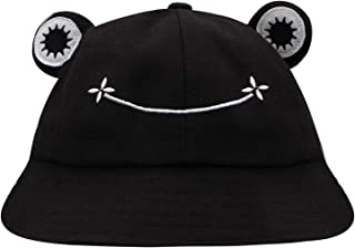 ZGMYC Cute Frog Cotton Bucket Hat Funny Summer Beach Sun Hat Fisherman Hat for Women Kids
