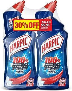 Harpic Toilet Cleaner Liquid Limescale Remover Original, 500 ml (Pack of 2)
