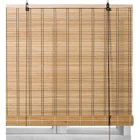 Klemmfix Persiana Estor de bamb/ú 60 x 160 cm Color bamb/ú Montaje sin perforaci/ón Victoria M