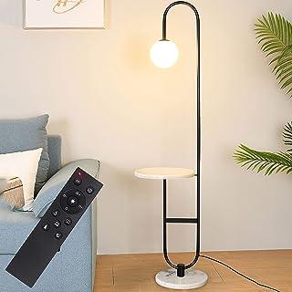 Lampadaire Arc LED Moderne, Lampadaire Sur Pied Salon Dimmable avec Télécommande Sans Fil,Minuterie de 60 Minutes,Lampe Pi...