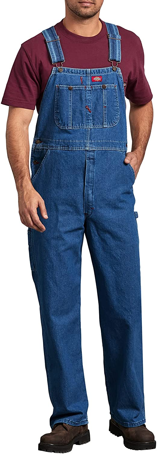 Dickies Men's Big-Tall Denim Stone Max 49% OFF Directly managed store Washed Was Bib Overall