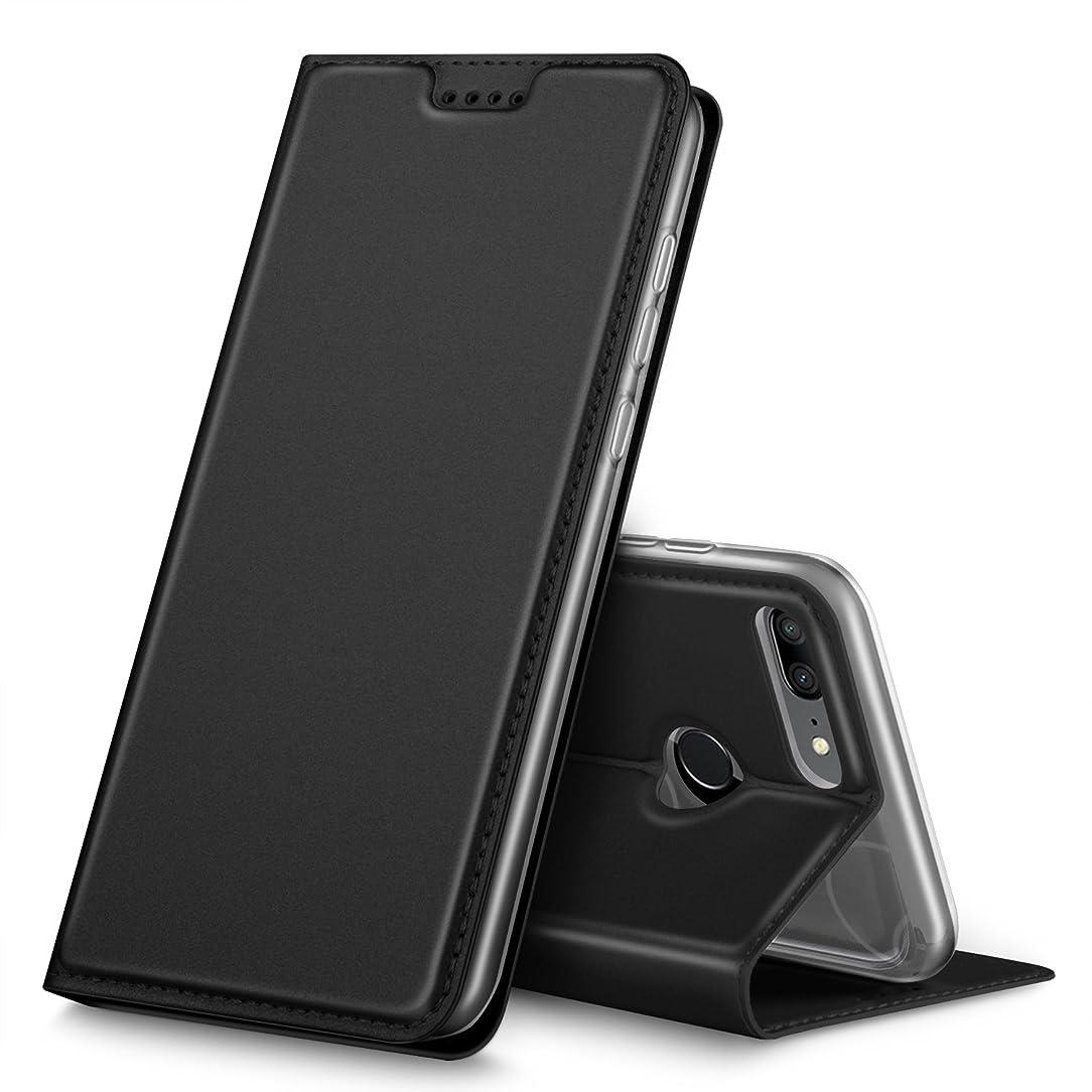 Nokia X5 case, KuGi Nokia 5.1 Plus case, Ultra-Thin DD Style PU Cover + TPU Back Stand Case for Nokia X5 / Nokia 5.1 Plus Smartphone(Black)