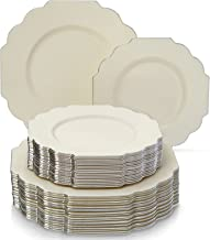silver spoons disposable plates