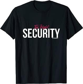 Mens Funny Top Flight Security T-Shirt