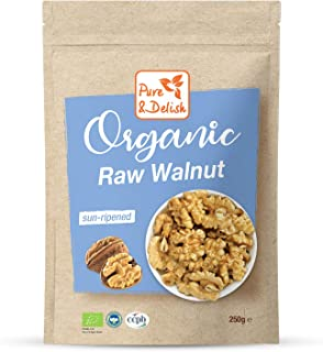 WALNUT, ORGANIC, RAW, GLUTEN FREE, NO PRESERVATIVES, GMO FREE, SUN RIPENED, 250 g