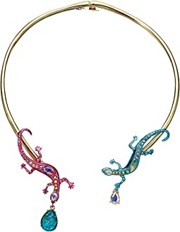 Multicolor Lizzard Hinge Collar Necklace