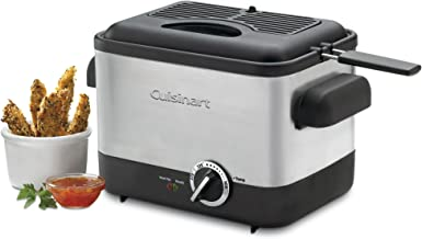 Cuisinart CDF-100 Compact 1.1-Liter Deep Fryer, Brushed Stainless Steel – Silver