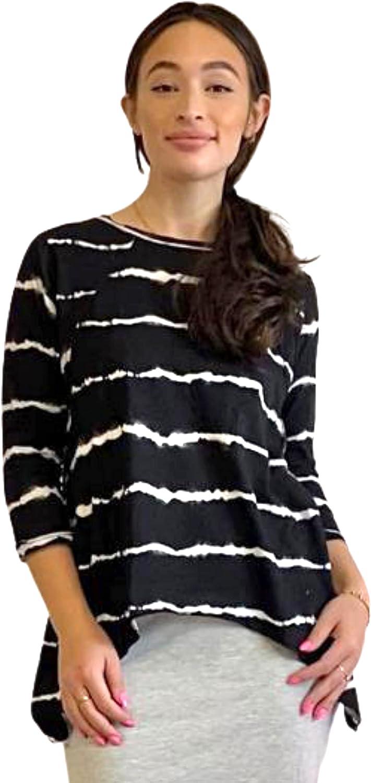 激安通販 Kosher Casual Cotton Tunic Top for Women w Sleeves 往復送料無料 Three Quarter