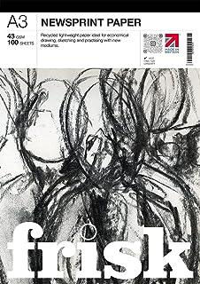 Frisk 23104903 A3 Newsprint Pad, Papier, Wit, 42 x 30 x 1 cm
