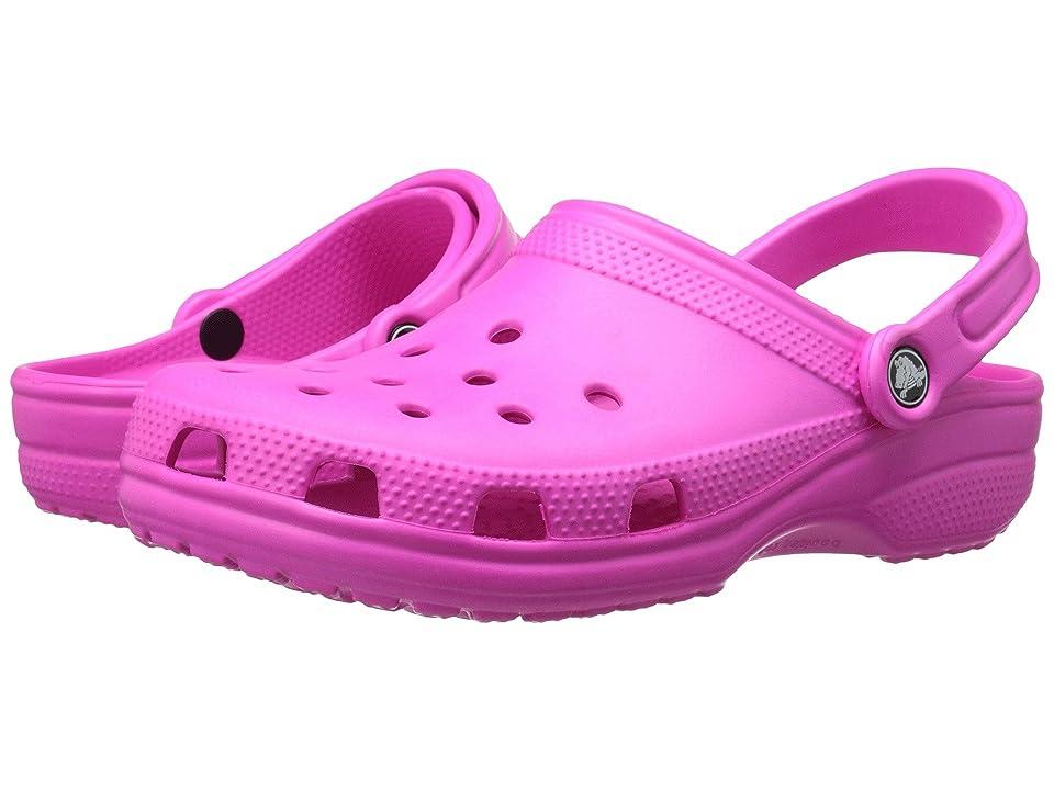 Crocs Classic Clog (Neon Magenta) Clog Shoes