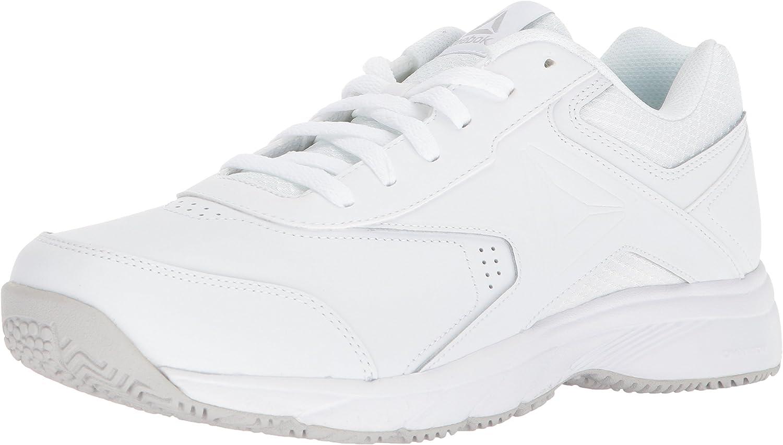 Reebok Men's Work N Cushion 3.0 Walking shoes, White Steel, 14 4E US