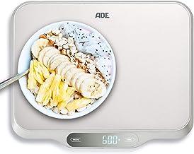 ADE KE1601 Balance de Cuisine numérique, Plastique, Argent-Gris, 20 x 23 x 2 cm