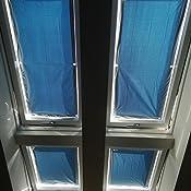 Exsun Roto Sonnenschutz Rollo Dachfenster Verdunkelung Hitzeschutz Thermofix unbedingt Glasfl/äche innen ausmessen und vergleichen Roto 06//11 = 43x96cm, blau !
