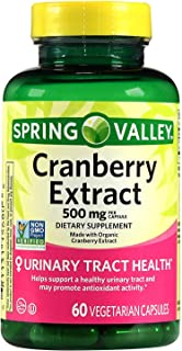 Spring Valley Cranberry Extract, 60 count, 500 mg per Capsule