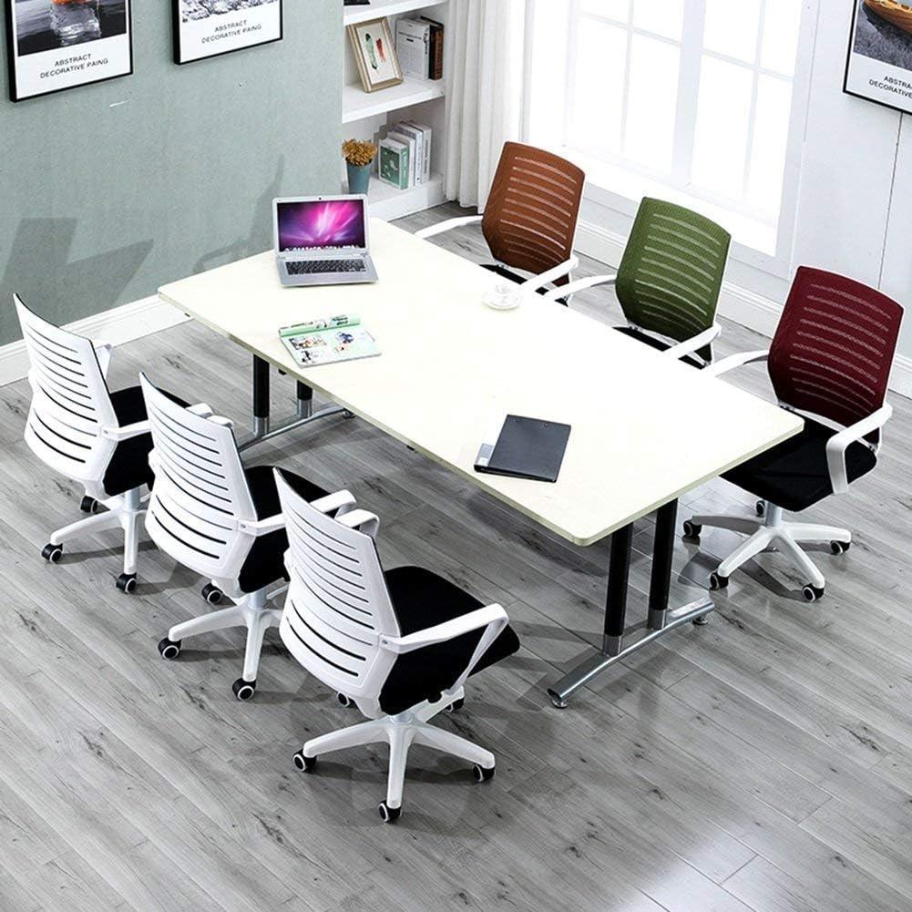 XYQB Siège Simple Rotatif, Chaise de Salle à Manger réglable à la Maison en Fer forgé Chaise Confortable à Dossier circonférentielXYQB White - Orange