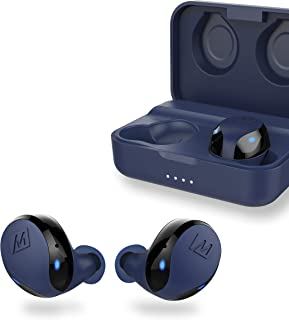 MEE audio X10 Truly Wireless in-Ear Headphones with Ergonomic Design, IPX5 Sweat Resistance, and 4.5 Hours Battery Life (23 Hours with Included Compact Charging case) (Blue)