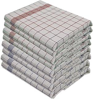 Gluecksshop - 10 Stück Geschirrtücher -100% Baumwolle 50 x 70 cm-95 Grad Wäsche - Kochfest - 5 ROT und 5 BLAU