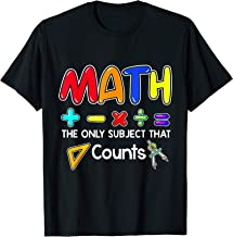 Math The Only Subject That Counts T-Shirt Gift Teacher