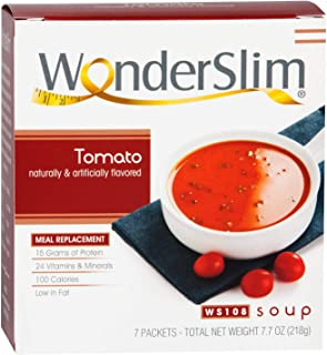 WonderSlim Low-Carb Diet High Protein Soup Mix - Tomato Soup (7 Servings) - Low Carb, Low Calorie, Fat Free...