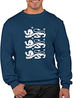 Navy Blue Three Lions Unisex Jumper Sweatshirt Great for Supporting England During Football Cricket Rugby Great for Any Bi...