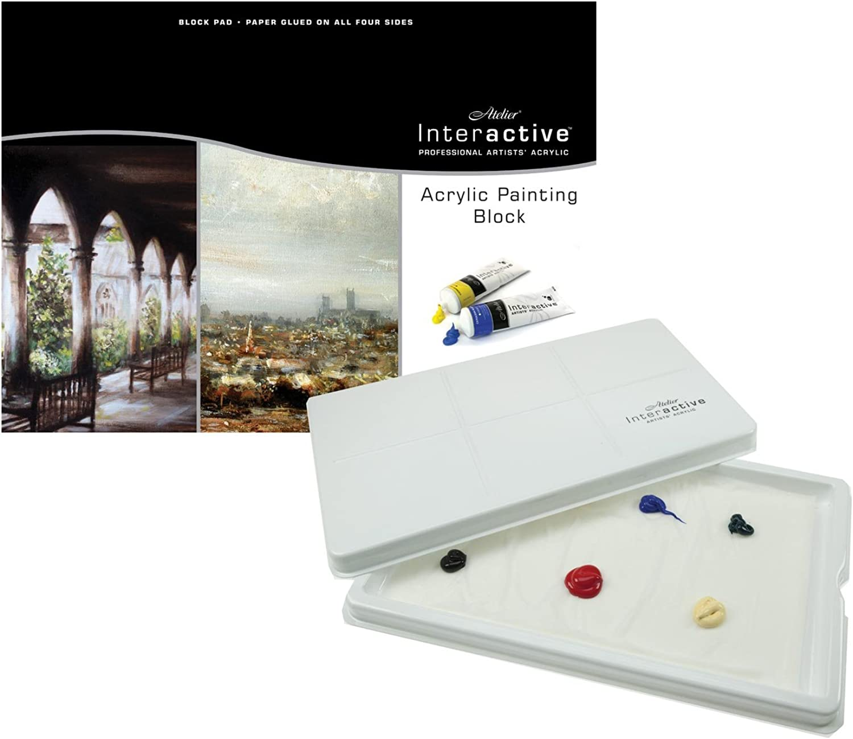Atelier Interactive Acrylic Block - 1 4 Imperial (28x38cm 11x15 ) & Keep Wet Palette