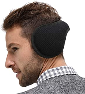 LETHMIK Outdoor Foldable Winter EarMuffs,Unisex Packable Knit Warm Fleece Ear Warmers Cover