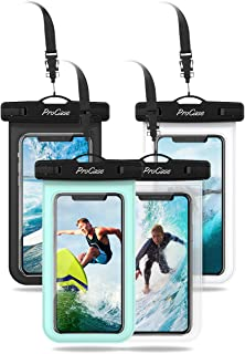ProCase Universal Cellphone Waterproof Pouch Dry Bag Underwater Case for iPhone 11 Pro Max Xs Max XR X 8 7Plus, Galaxy S10+ S9 S8+/ Note 10+ 9 8, Pixel 4XL up to 6.8