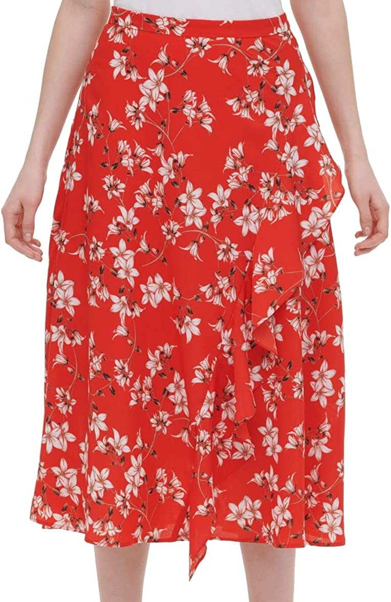 OFFicial site Limited price Calvin Klein Women's Front Ruffle Skirt