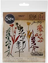 Sizzix Thinlits Die Set 661808, Wildflowers 2 by Tim Holtz, Multi Color, One Size