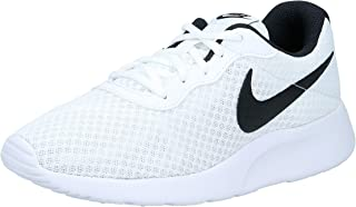 Nike, 11996234031, Womens Tanjun Running Shoes, Black White, 4 UK 37.5 EU,812655