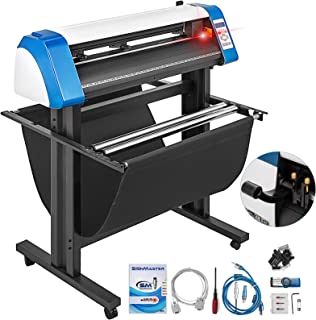 VEVOR Vinyl Cutter 34 Inch Vinyl Cutter Machine Semi-Automatic DIY Vinyl Printer Cutter Machine Manual Positioning Sign Cutting with Floor Stand Signmaster Software