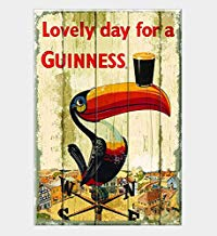Froy Lovely Day a Guinness Souvenir Pared Cartel de Chapa Retro Hierro Cartel Pintura Placa Hoja de Metal Vintage Arte Personalizado Creatividad Decoración Artesanía para Cafe Bar Garaje Inicio