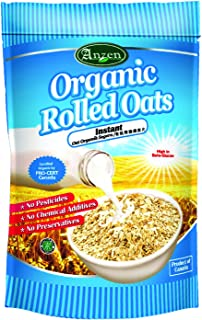 Anzen Instant Organic Rolled Oats, 500 g (Pack of 12)