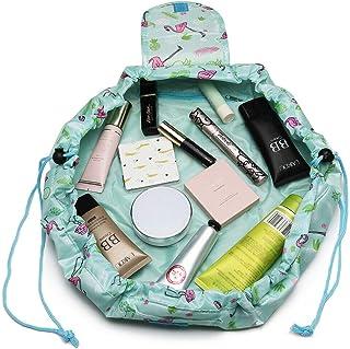 Drawstring Makeup Bag for Women Girls - Drawstring Make Up Bag, Makeup Organiser Bag, Travel Makeup Bag, Maiden Makeup Ba...