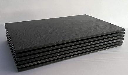 Preisvergleich für natur Schiefer 6 Stk Platzset Tischset Servierplatte 30x20 Schieferplatten