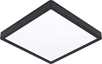 EGLO LED plafondlamp Fueva 5, Ø 28,5 cm, 1 vlam opbouwlamp, badkamerplafondlamp modern van staal en een kunststof lichtopp...
